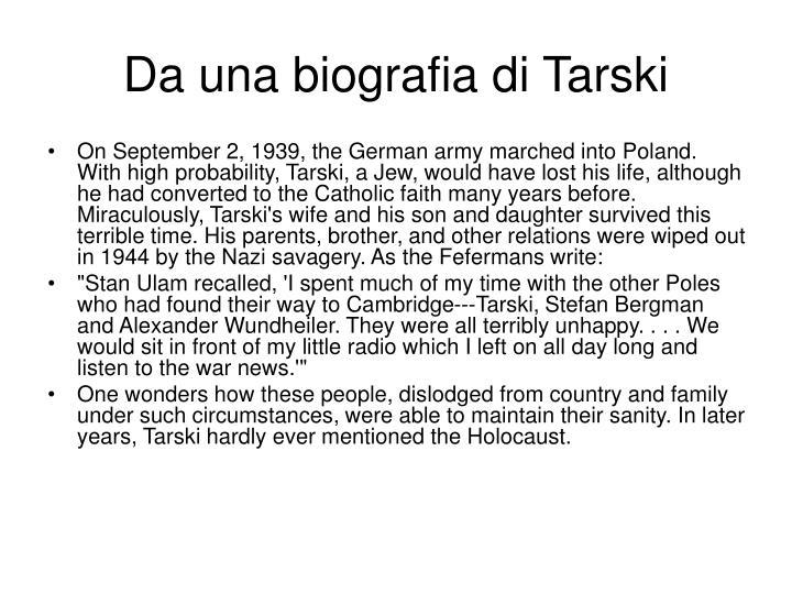 Da una biografia di Tarski