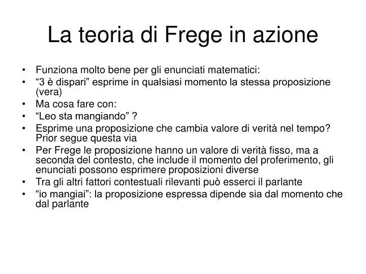 La teoria di Frege in azione