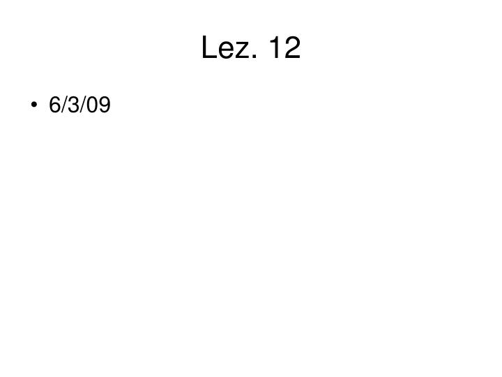 Lez. 12