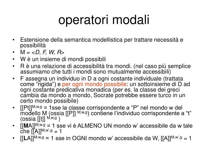 operatori modali