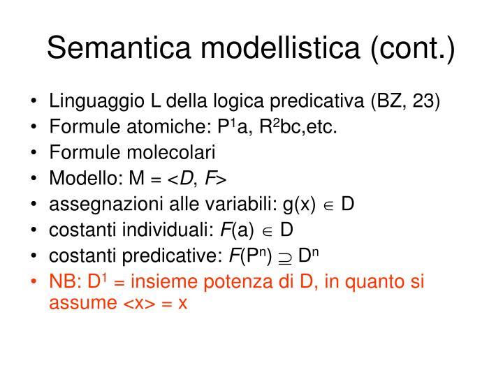 Semantica modellistica (cont.)