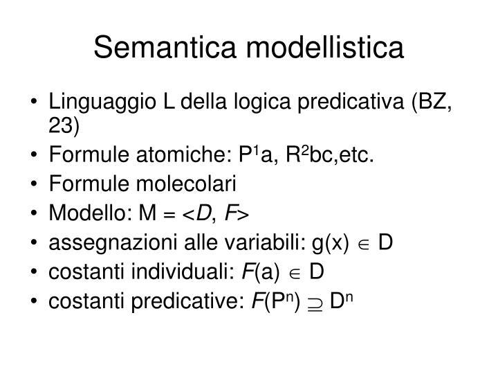 Semantica modellistica