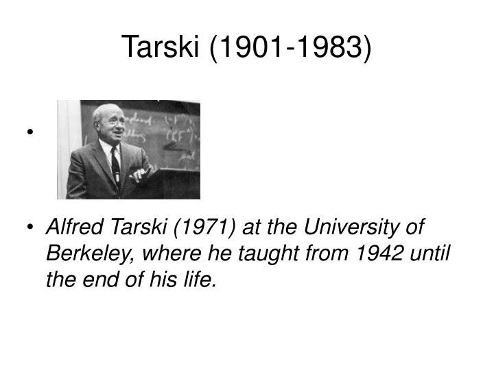 Tarski (1901-1983)