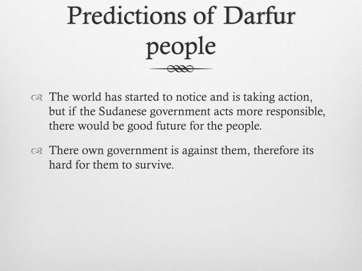 Predictions of Darfur people