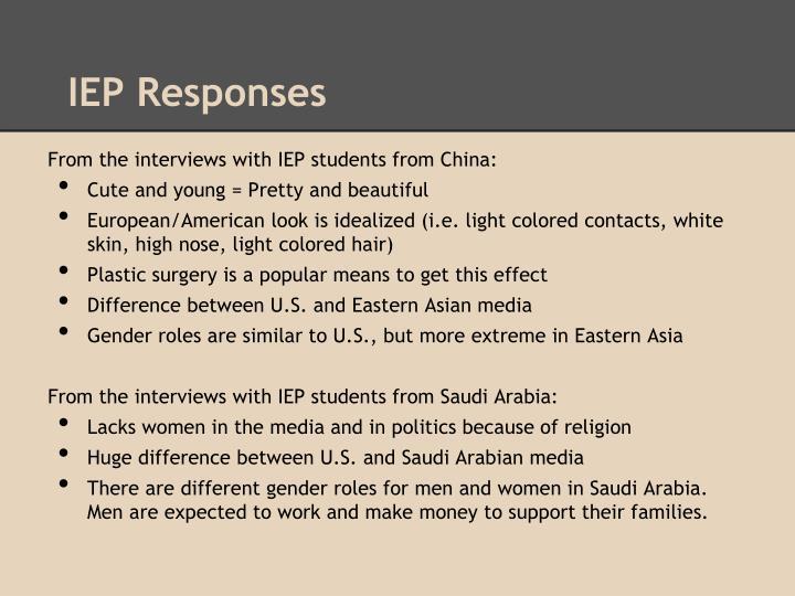 IEP Responses