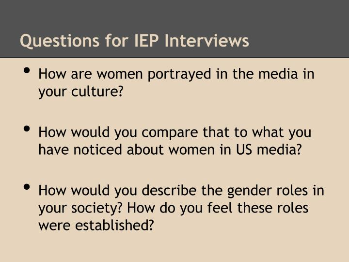 Questions for IEP Interviews