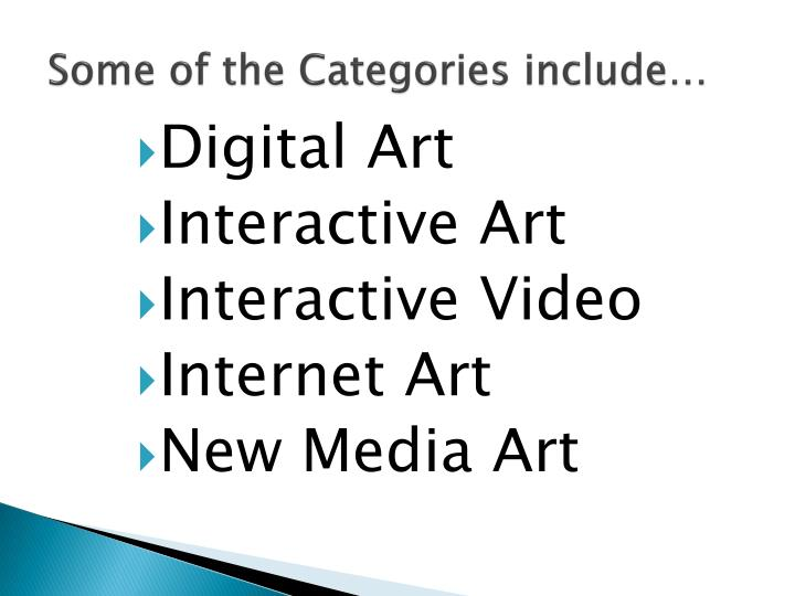 Some of the categories include