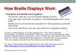 how braille displays work