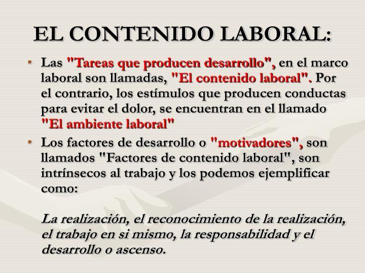 EL CONTENIDO LABORAL: