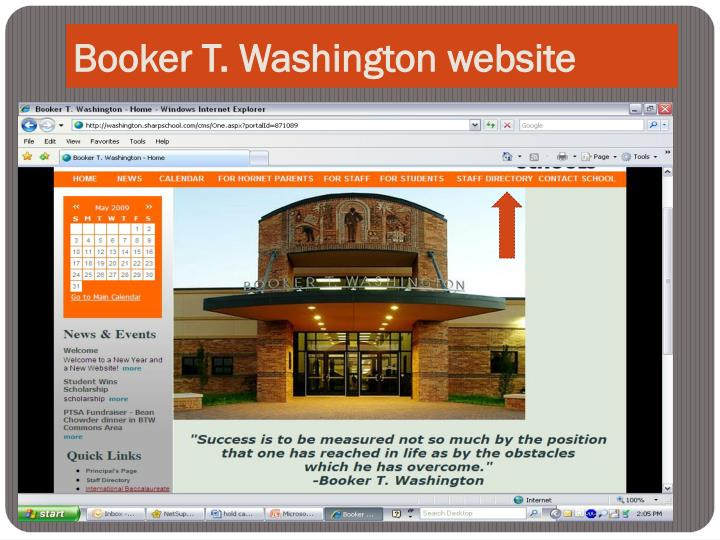 Booker T. Washington website
