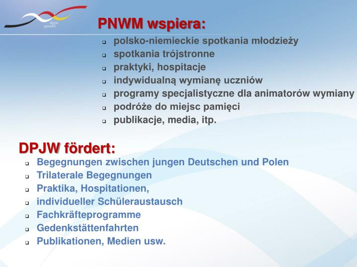PNWM wspiera: