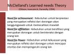 mcclelland s learned needs theory gibson ivancevich donnelly 1994