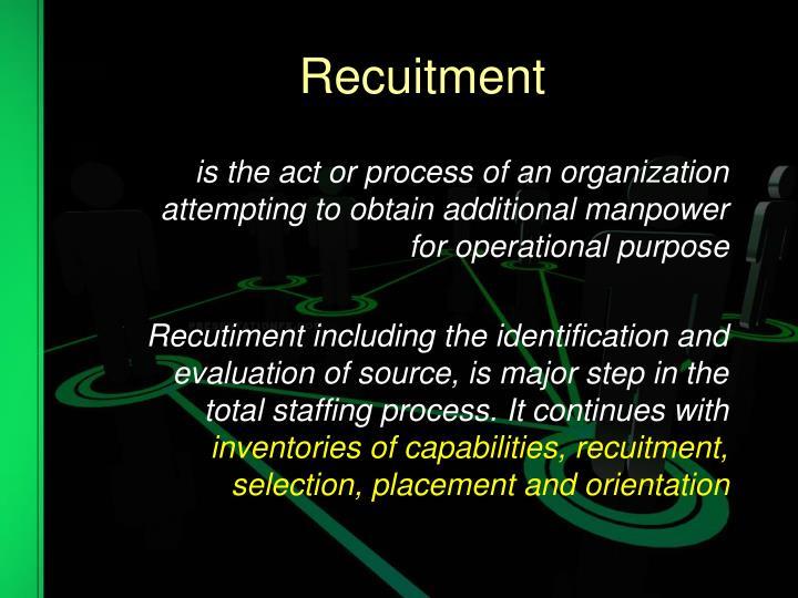 Recuitment