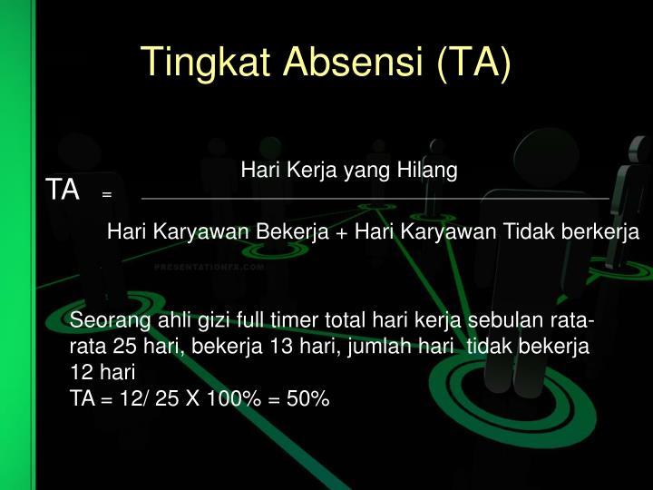 Tingkat Absensi (TA)