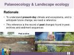 palaeoecology landscape ecology