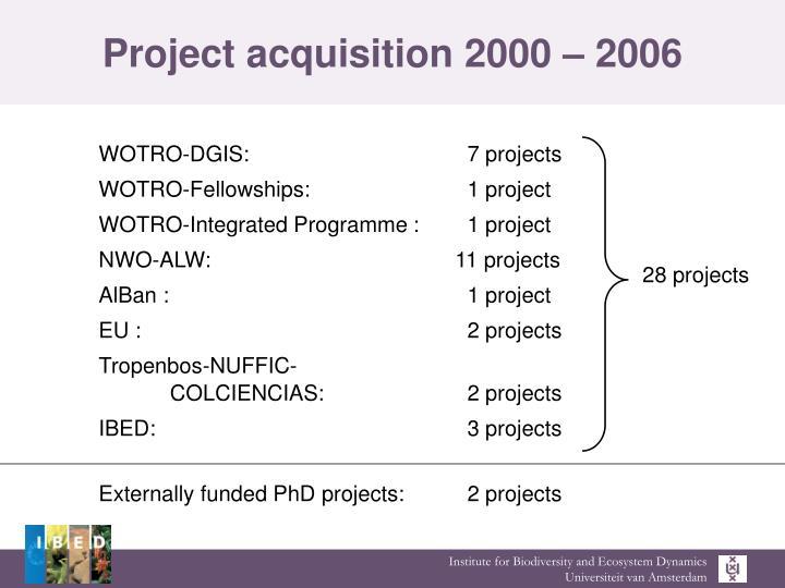Project acquisition