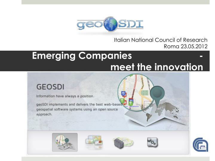emerging companies meet the innovation