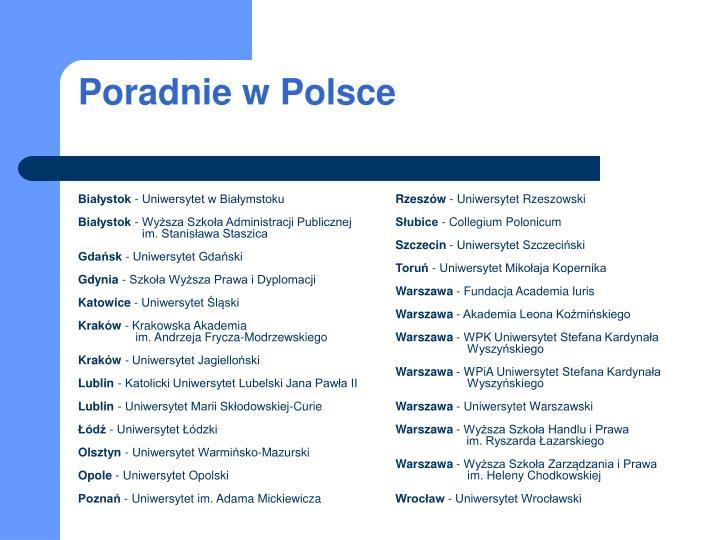 Poradnie w Polsce