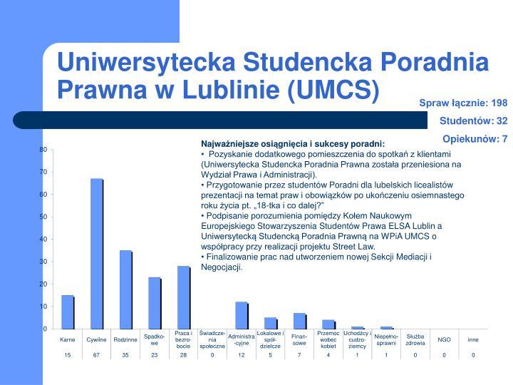 Uniwersytecka Studencka Poradnia Prawna w Lublinie (UMCS)