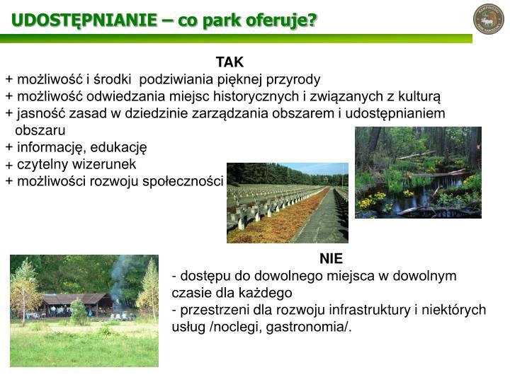 UDOSTĘPNIANIE – co park oferuje?