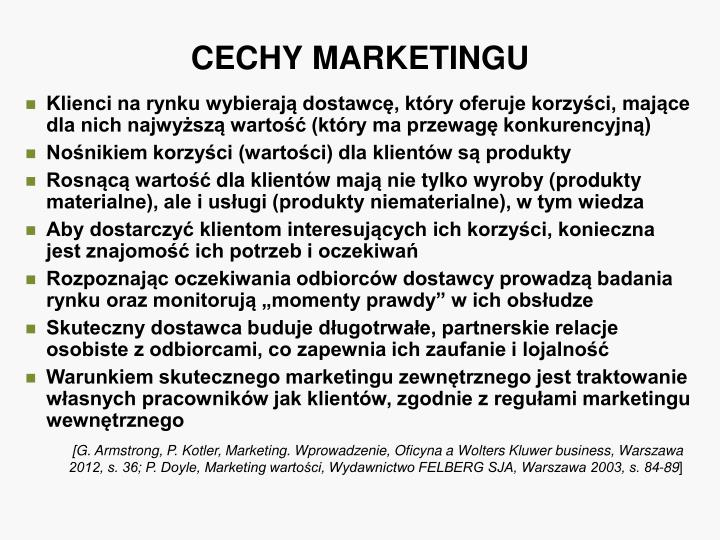 CECHY MARKETINGU