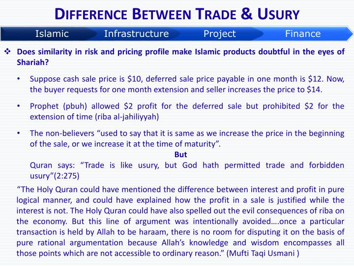 Difference Between Trade & Usury
