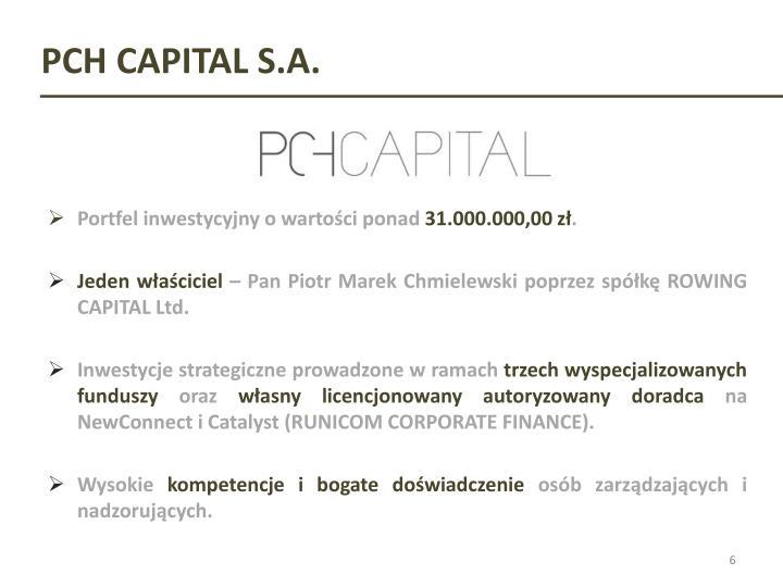 PCH CAPITAL S.A.