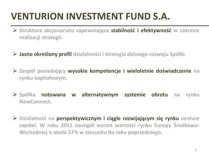 VENTURION INVESTMENT FUND S.A.