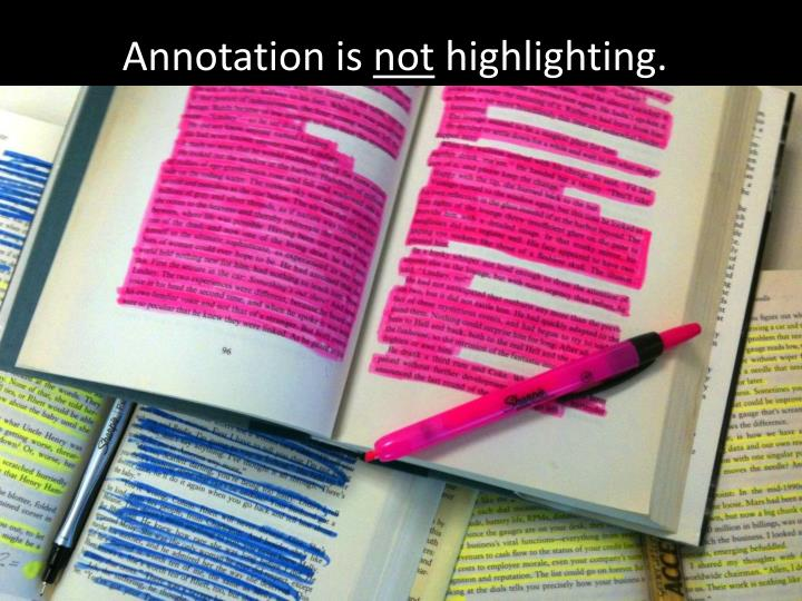Annotation is