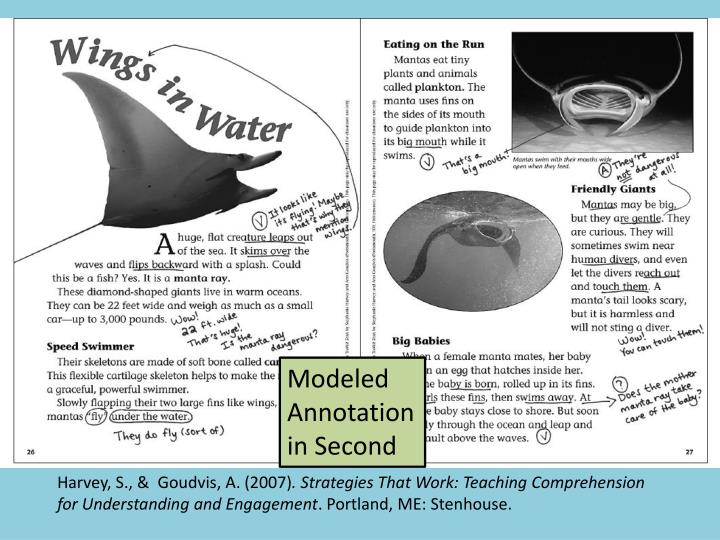 Modeled Annotation in Second