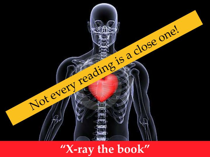 Not every reading is a close one!
