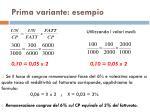 prima variante esempio1