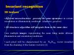 invariant recognition