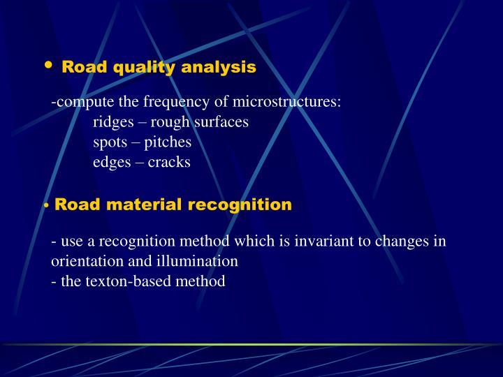 Road quality analysis