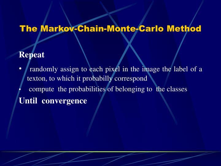 The Markov-Chain-Monte-Carlo Method