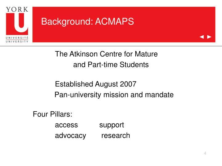Background: ACMAPS