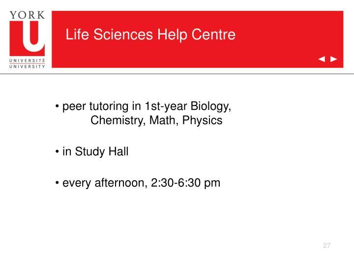 Life Sciences Help Centre