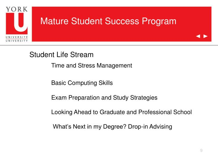 Mature Student Success Program