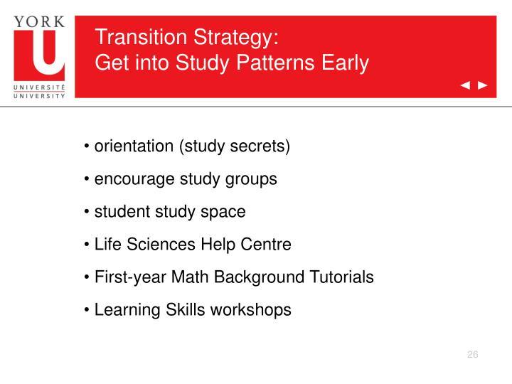 Transition Strategy: