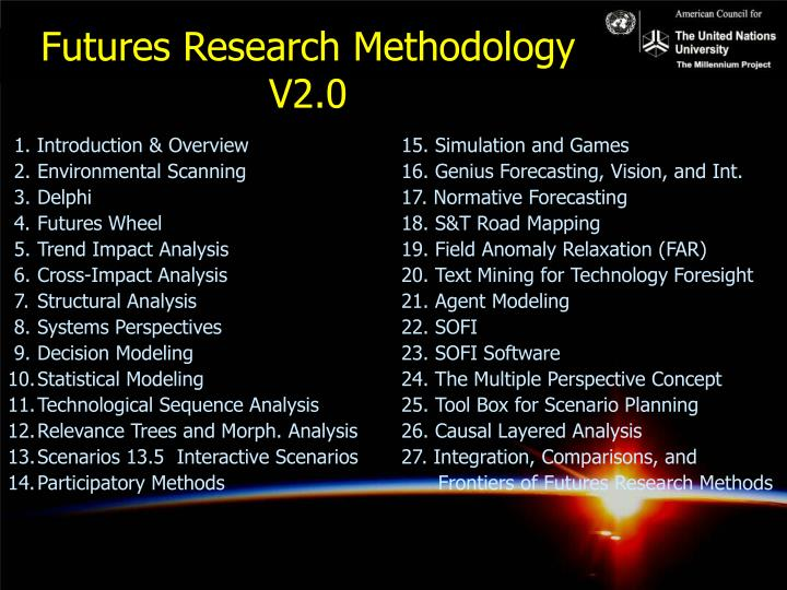 Futures Research Methodology V2.0