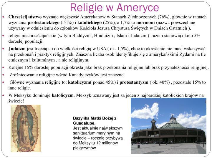 Religie w Ameryce