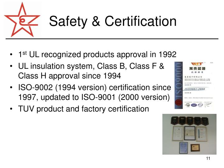 Safety & Certification