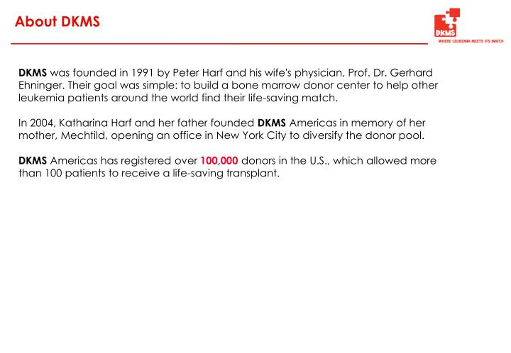 About DKMS
