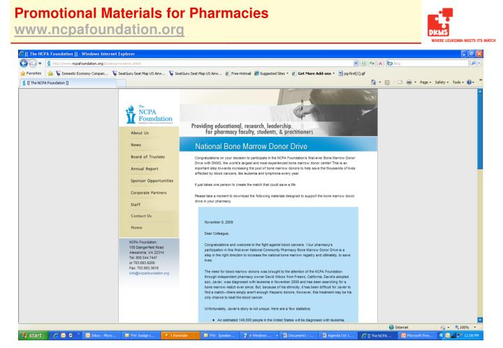 Promotional Materials for Pharmacies