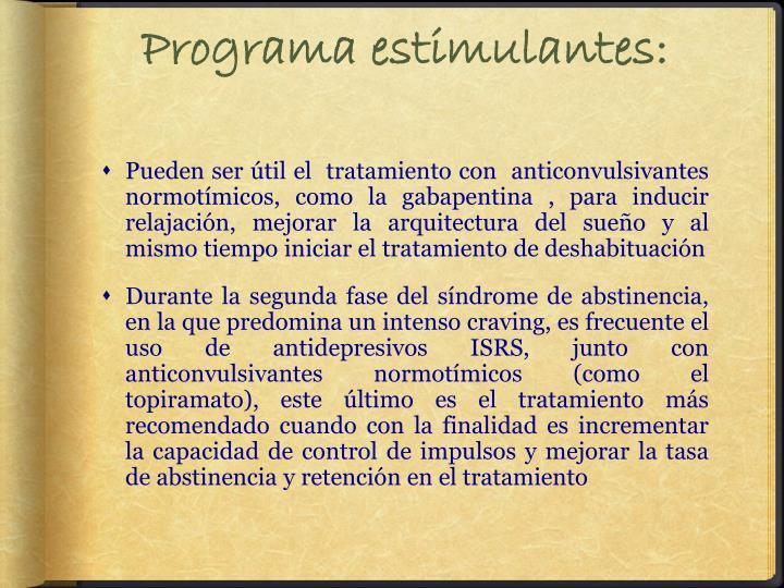 Programa estimulantes: