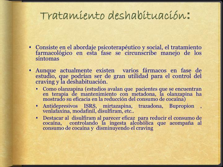 Tratamiento deshabituación