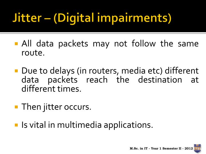 Jitter – (Digital impairments)