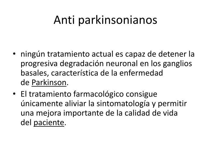 Anti parkinsonianos