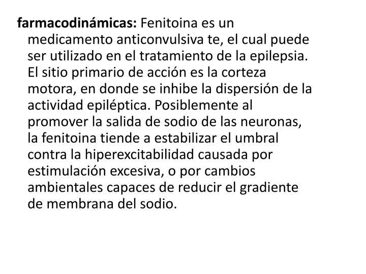 farmacodinámicas: