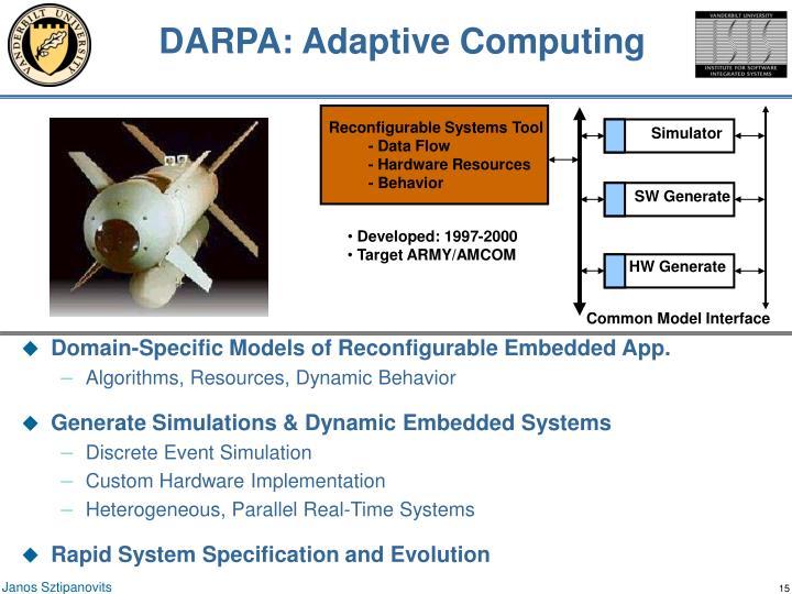 DARPA: Adaptive Computing